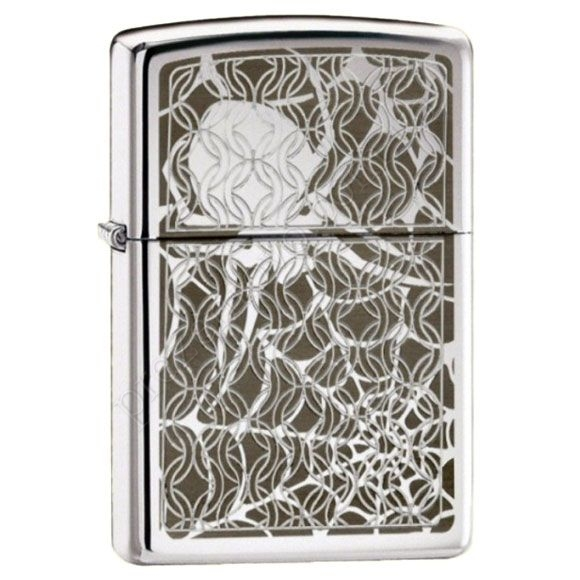 Зажигалка Zippo 28052 Hidden Spider High Polish Chrome