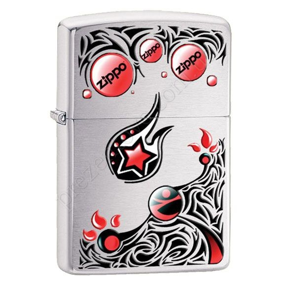 Зажигалка Zippo 28056 Stars and Planets Brushed Chrome