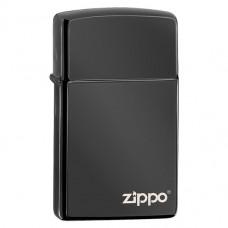 Вузька запальничка Zippo 28123 ZL Slim Ebony Zippo Logo