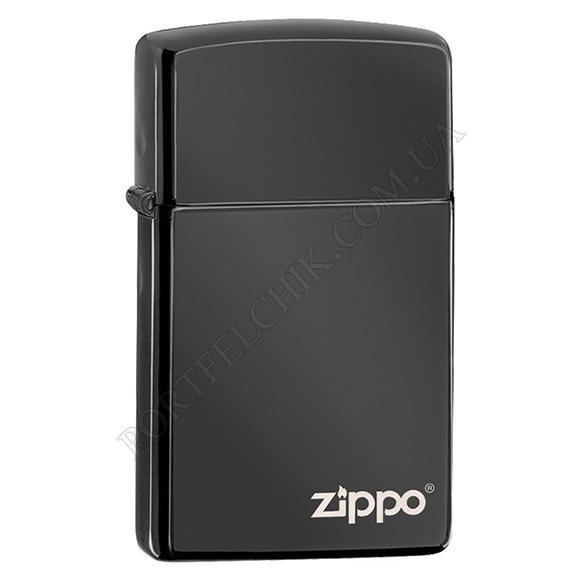 Запальничка Zippo 28123 ZL Slim Ebony Zippo Logo