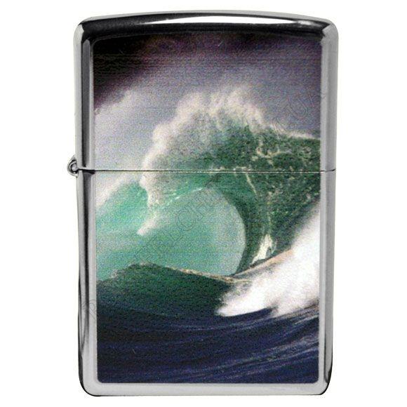 Зажигалка Zippo 28178 Ocean Wave High Polish Chrome