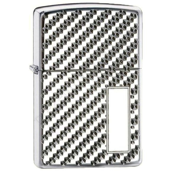 Зажигалка Zippo 28185 Armor Engine Turn Pebble High Polish Chrome