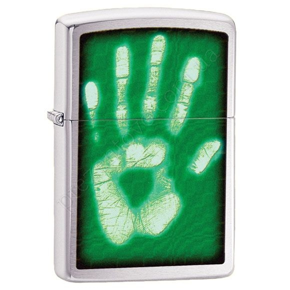 Зажигалка Zippo 28283 Identity Hand Print Brushed Chrome