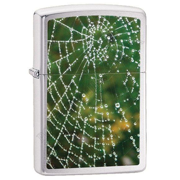 Запальничка Zippo 28285 Spider Web Rain Drops Brushed Chrome