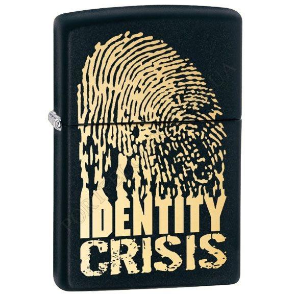 Зажигалка Zippo 28295 Identity Crisis Black Matte