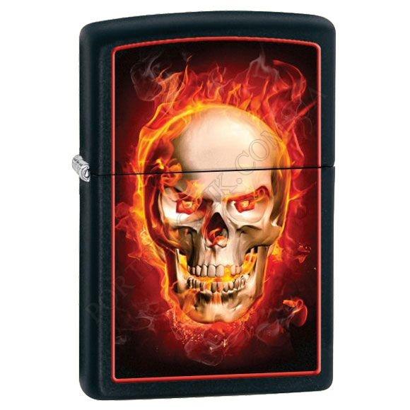 Зажигалка Zippo 28307 Burning Skull