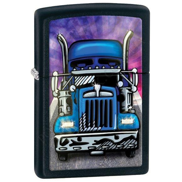 Зажигалка Zippo 28312 Truck Head On Black Matte