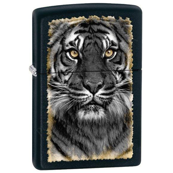 Зажигалка Zippo 28314 Tiger Black Matte