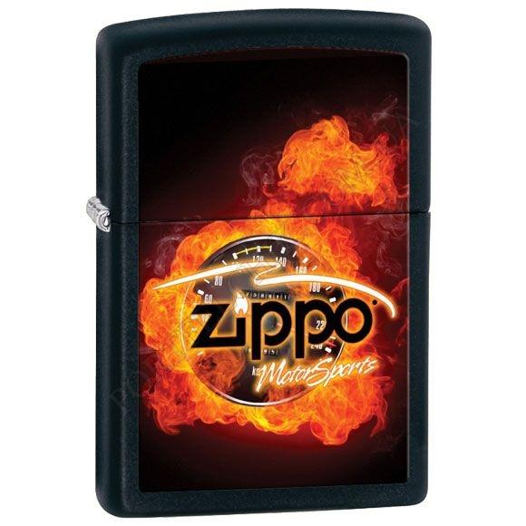 Запальничка Zippo 28335 Motorsports Black Matte