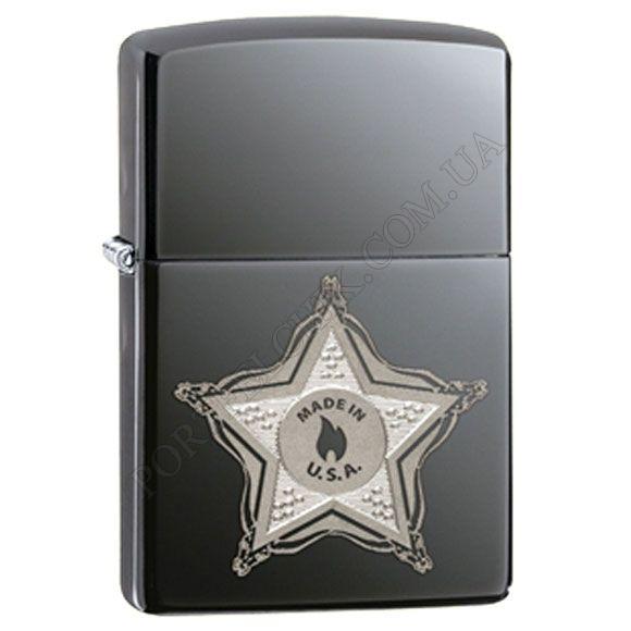 Зажигалка Zippo 28360 Skull Badge Black Ice