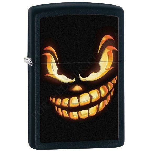 Запальничка Zippo 28439 Scary Jack O Lantern Black Matte