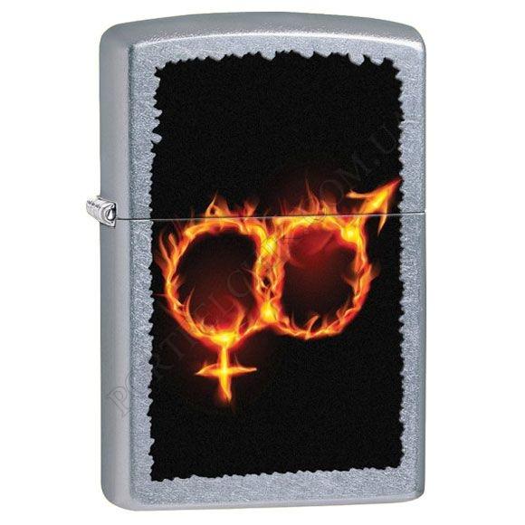 Запальничка Zippo 28446 Man Woman Fire Street Chrome