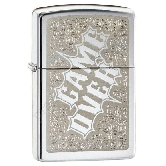 Запальничка Zippo 28447 Game Over High Polish Chrome