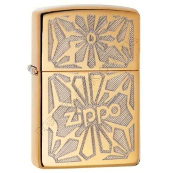 Зажигалка Zippo 28450 Ornament High Polish Brass