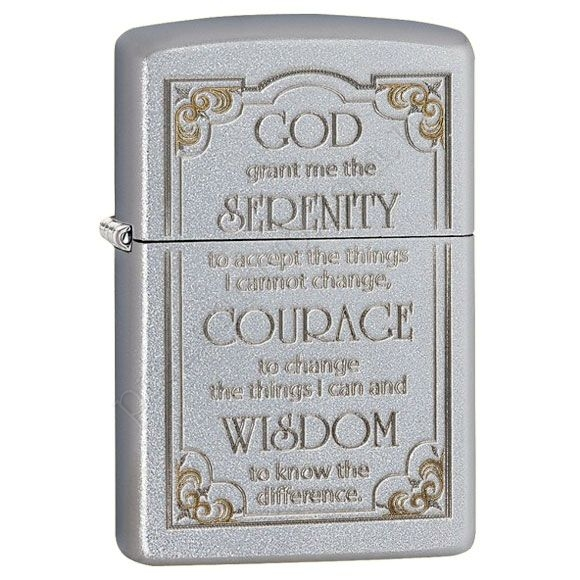 Запальничка Zippo 28458 Serenity Prayer Satin Chrome