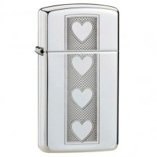 Зажигалка Zippo 28476 Slim Heart High Polish Chrome
