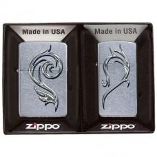 Зажигалка Zippo 28477 Heart Combo Street Chrome