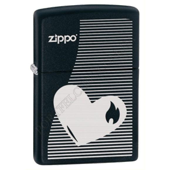 Запальничка Zippo 28549 Heart Lines Black Matte
