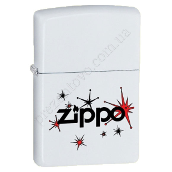 Зажигалка Zippo 28557 Vintage Stars White Matte