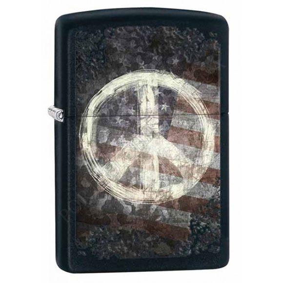 Запальничка Zippo 28864 Peace On Flag