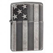 Запальничка Zippo 28974 U.S. Flag Armor Antq Slvr Plate