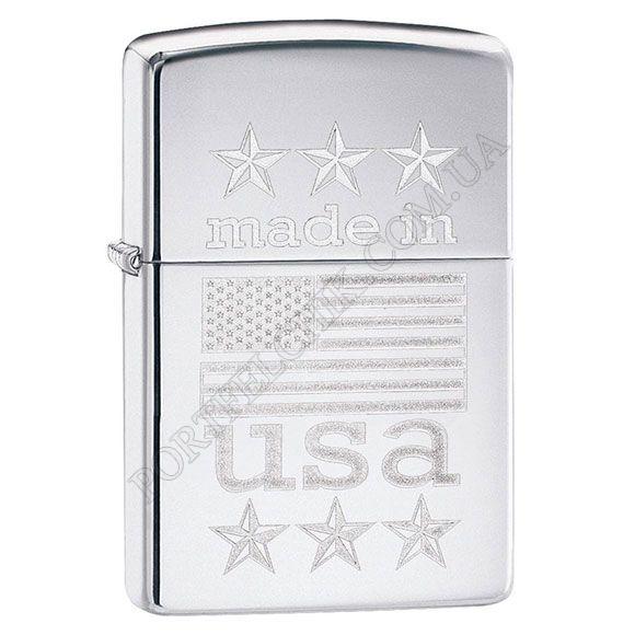 Зажигалка Zippo 29430 Made In USA with Flag
