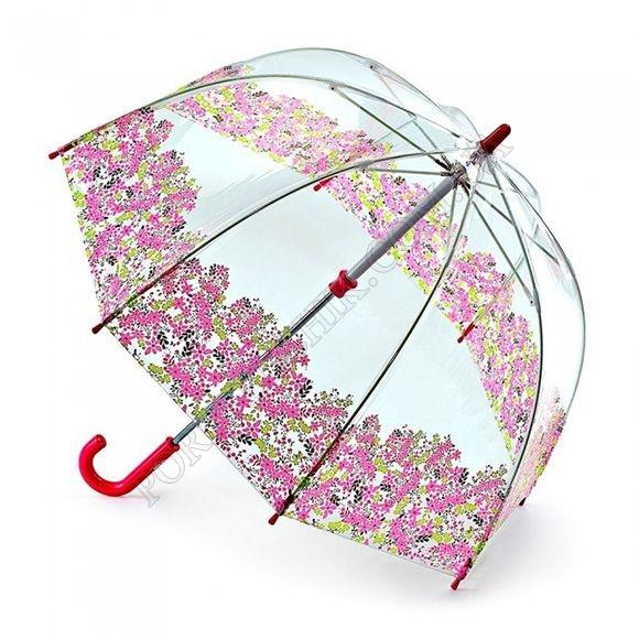 Парасолька Fulton C605 Funbrella-4 Pretty Petals червоний дитячий