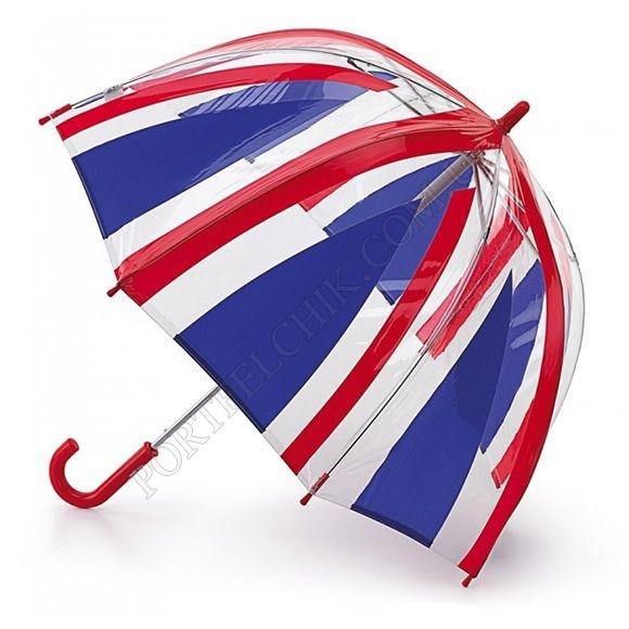 Парасолька Fulton C605 Funbrella-4 Union Jack червоний дитячий