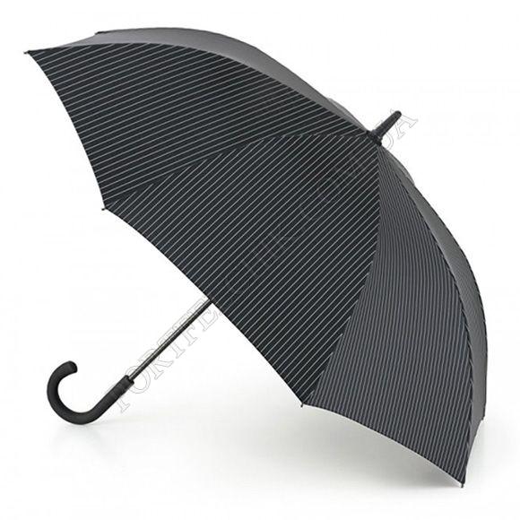 Парасолька Fulton G451 Knightsbridge-2 City Stripe Black Steel чорний чоловічий