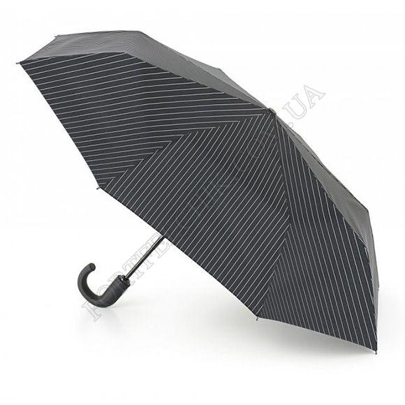 Парасолька Fulton G818 Chelsea-2 City Stripe Black Steel чорний чоловічий