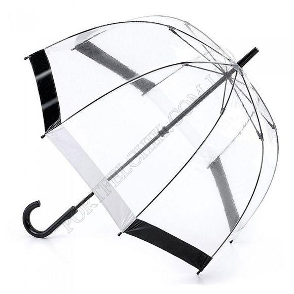 Парасолька Fulton L041 Birdcage-1 Black & White чорний / білий жіночий