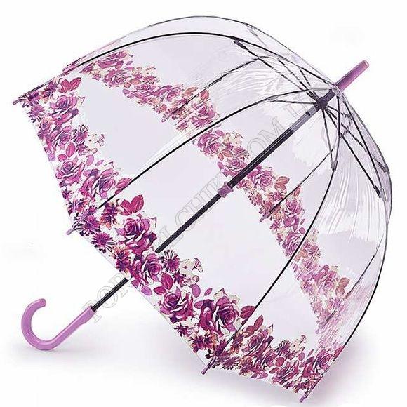 Парасолька Fulton L042 Birdcage-2 Crimson Floret рожевий жіночий