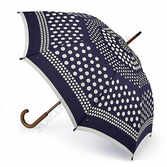 Парасолька Fulton L056 Kensington-2 Nautical Spot синій жіночий