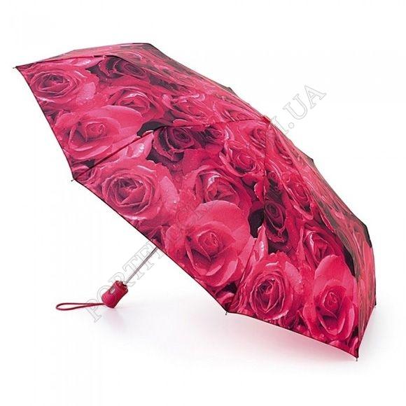 Парасолька Fulton L346 Open & Close-4 Photo Rose Red червоний жіночий