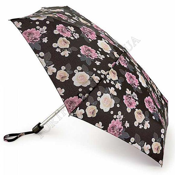 Парасолька Fulton L501 Tiny-2 Dreamy Floral чорний жіночий
