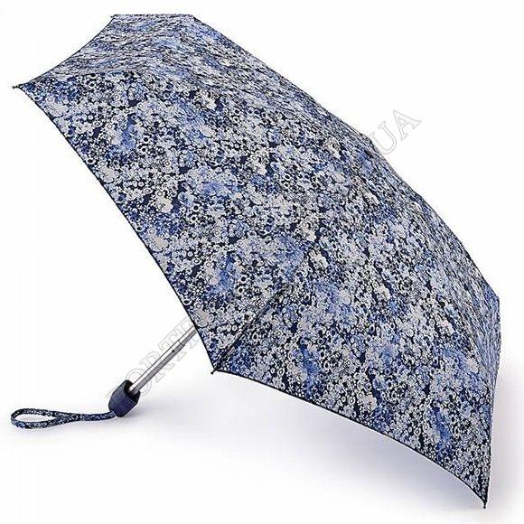 Парасолька Fulton L501 Tiny-2 Worn Ditsy синій жіночий