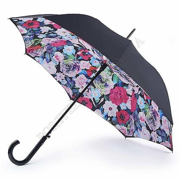 Зонт Fulton L754 Bloomsbury-2 Vibrant Floral черный
