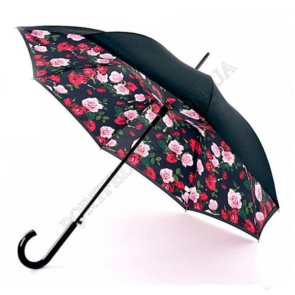 Парасолька Fulton L754 Bloomsbury-2 Enchanted Bloom чорний жіночий