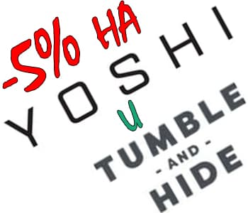 -5% знижка та безкоштовна доставка на Yoshi, Tumble and Hide