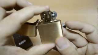 Зажигалка Zippo 168 Armor Brushed Brass