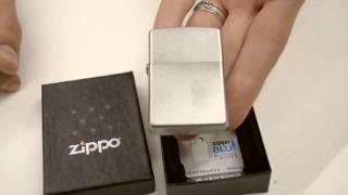Зажигалка Zippo 205 Satin Chrome