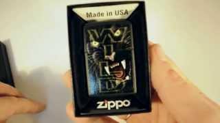 Зажигалка Zippo 218 412 Wild Tiger Black Matte