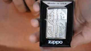 Зажигалка Zippo 20904 Bling Emblem High Polish Chrome
