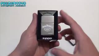 Зажигалка Zippo 250 JD 321 Jack Daniels Logo High Polish Chrome