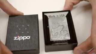Зажигалка Zippo 20855 Timberwolves Emblem Brushed Chrome