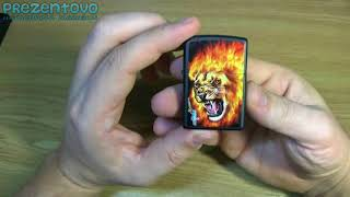Зажигалка Zippo 28003 Mazzi Flaming Lion Head Black Matte