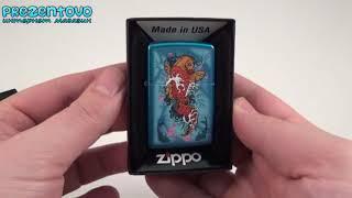 Зажигалка Zippo 28139 Koi Fish Cerulean