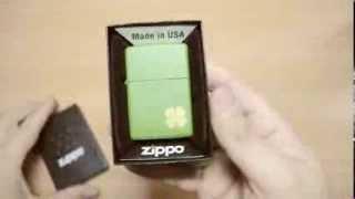 Зажигалка Zippo 21032 Shamrock Moss Green Matte
