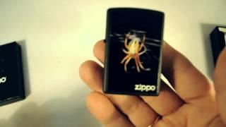 Зажигалка Zippo 218 439 Yellow Spider Black Matte