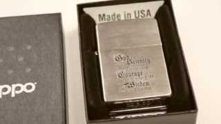 Зажигалка Zippo 200 114 Bible Brushed Chrome